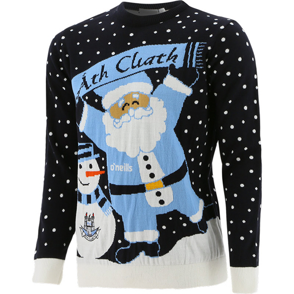 Dublin Santa Kids' Christmas Jumper Navy