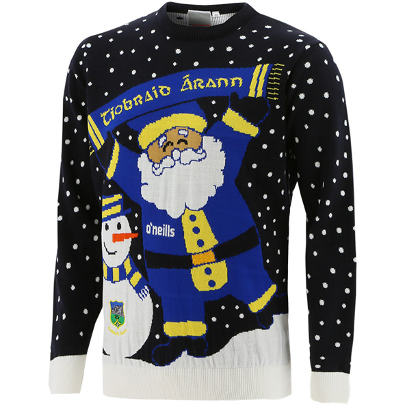 Tipperary Santa Kids XMas Jumper Blue