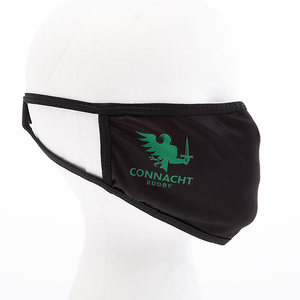 Connacht Face Mask Black