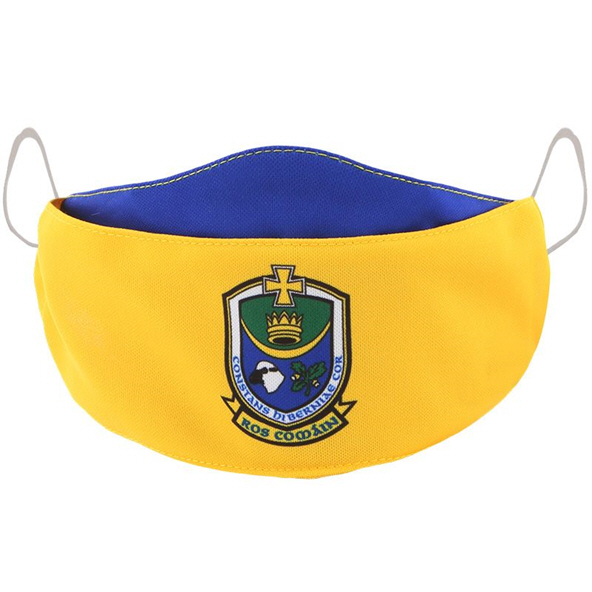 O'Neills Roscommon GAA Adult Face Mask, Yellow