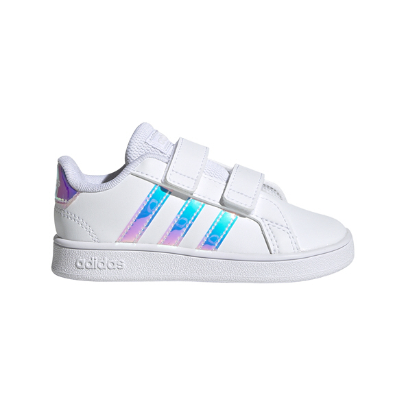 adidas Grand Court Infant Shoe White/Pink