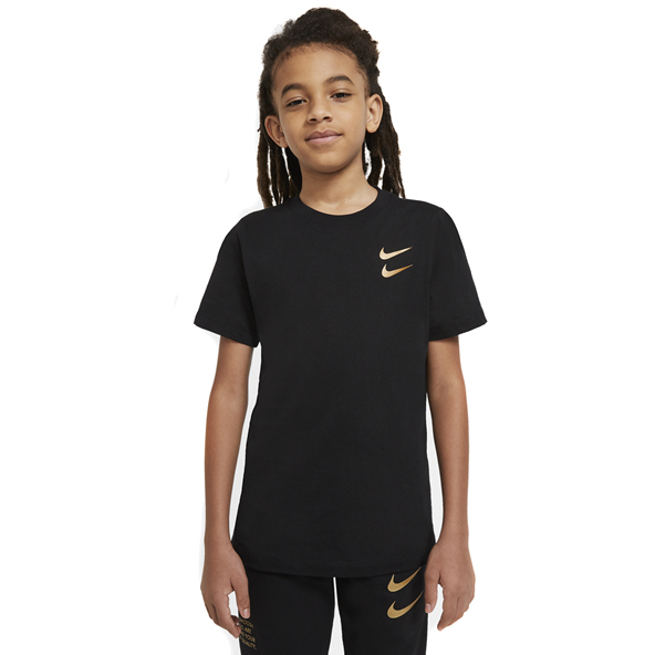 Nike Boys Swoosh Pack Tee Black