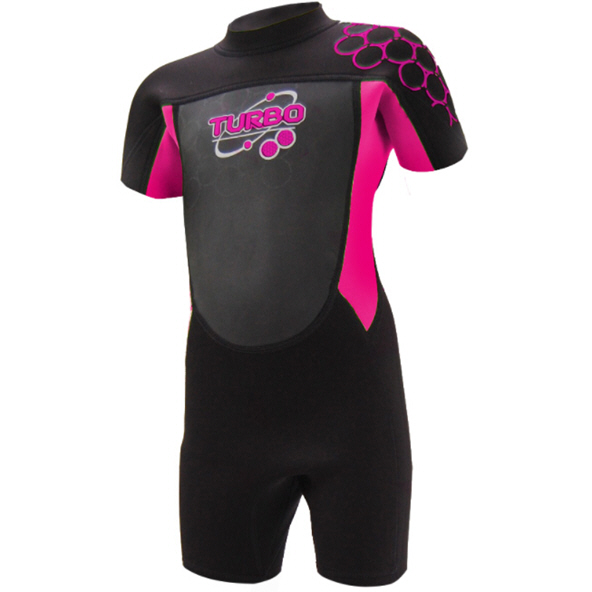 TWF Turbo 2.5mm Shortie Wetsuit Blk/Pnk
