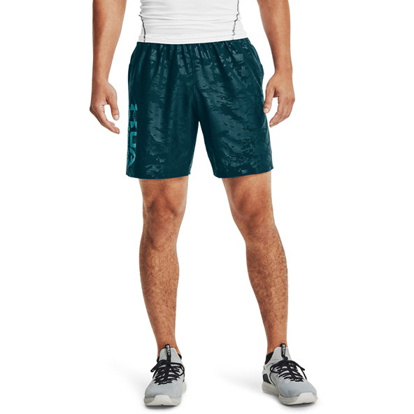 Under Armour Men's Woven Emboss Shorts Blue
