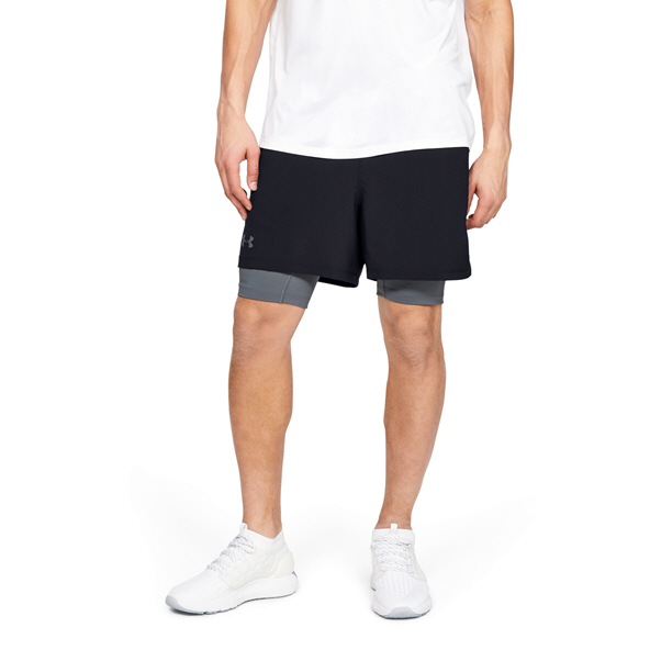 Under  Armour Men's Qualifier 2in1 Short Black