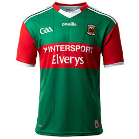 O'Neills Mayo 2021 Player Fit Home Jersey Green