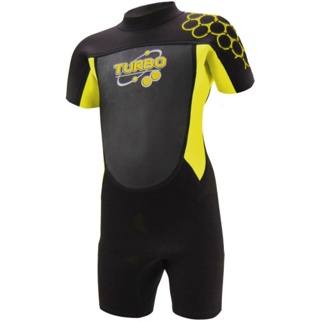 TWF Turbo 2.5mm Shortie Wetsuit Blk/Yell