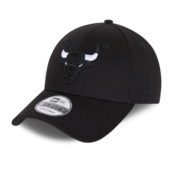 New Era Chicago Bulls Black Base 9Forty Cap, Black
