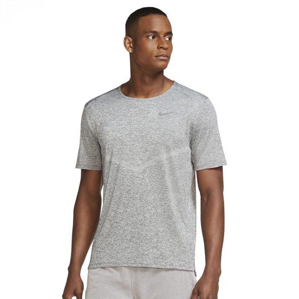 Nike Men's Dri-Fit Rise 365 Short Sleeve T-Shirt Grey