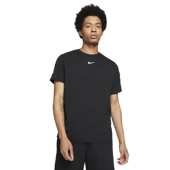 Nike Mens Swoosh Repeat SS Tee Black