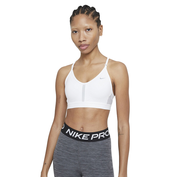 Nike  Indy Women's Padded V-Neck Sports Bra White