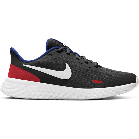 Nike Revolution 5 Kid Boy Run Blk/Wht/Rd
