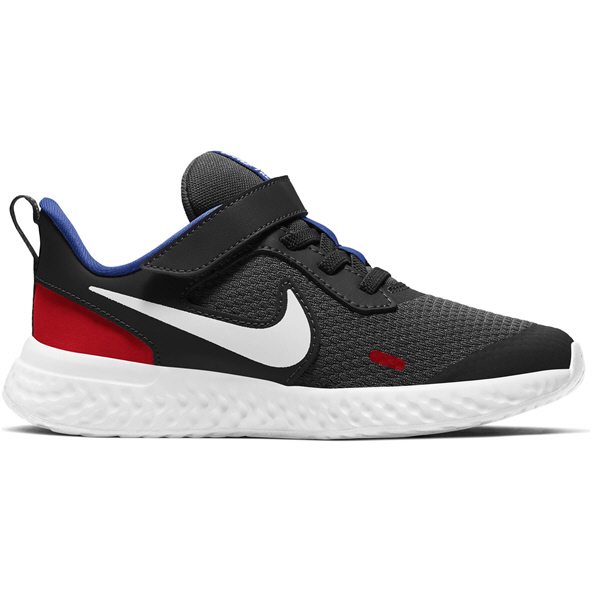 Nike Revolution 5 Jnr Boy Run Blk/Wht/Rd