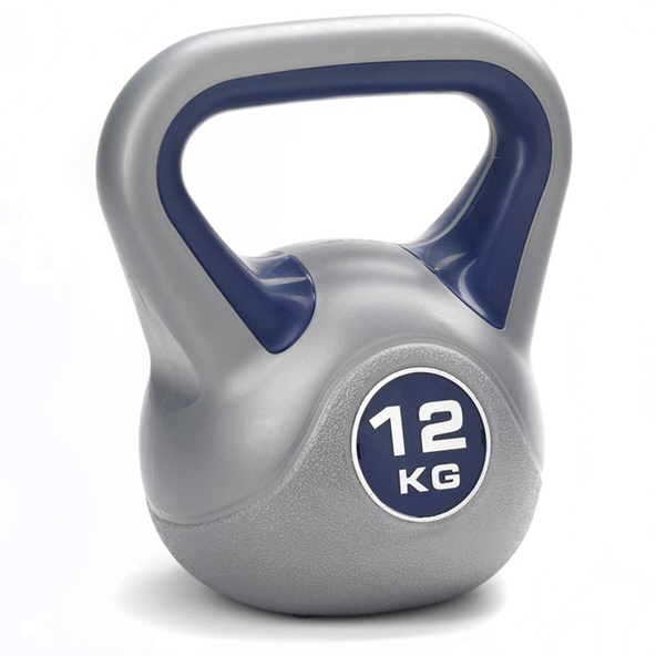 York Vinyl Kettlebell - 12kg, Grey/Purple
