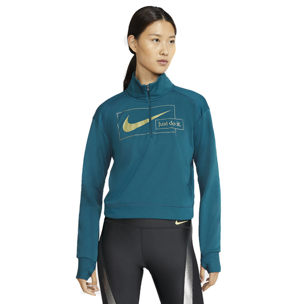 Nike Wmns Icon Clash Midlayer Top, Blue