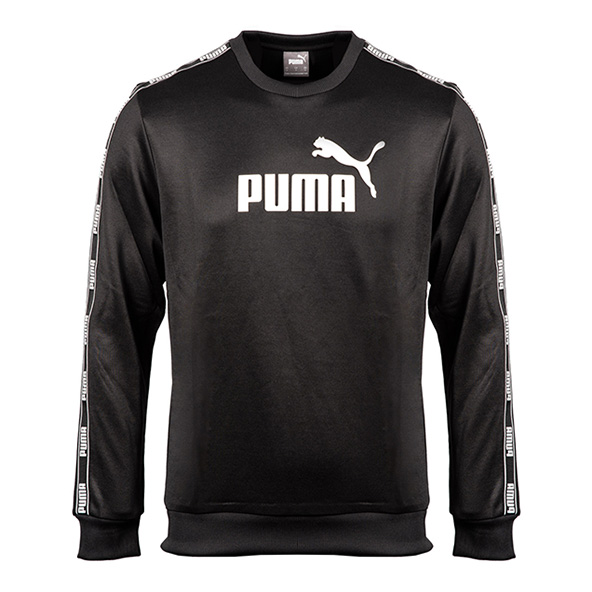 Puma Tape Poly Men's Crew Top Black