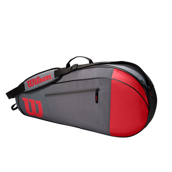Wilson Team 2 Compartment  6 Racket Bag Grey
