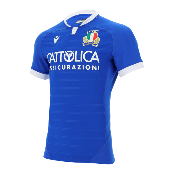 Macron Italy 21 Home Jersey, Blue