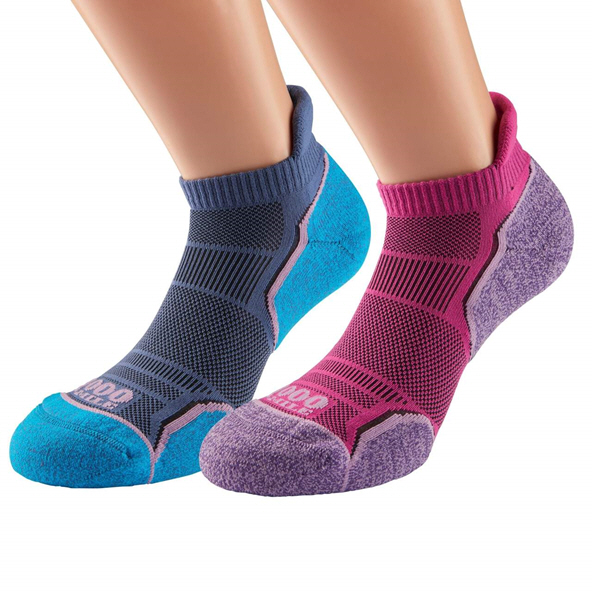 1000 Mile Women's Single Layer Socklet – 2 Pk Pink