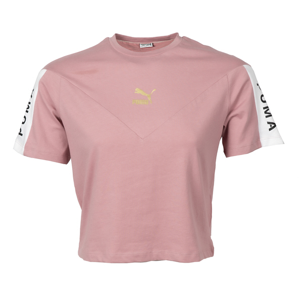Puma Girls Color Block Tee Pink