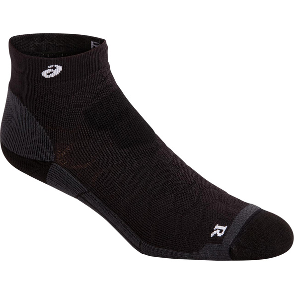 Asics Men's Road Quarter Socks, Black