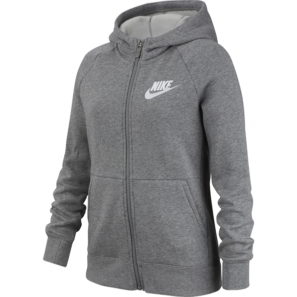 Nike Swoosh PE Girls' Full Zip Hoody Grey