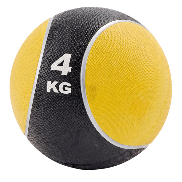 York Fitness Medicine Ball 4kg Black/Yellow