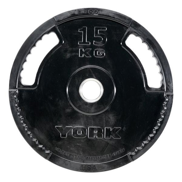 York 15kg Rubber Thin Line Olympic Plate