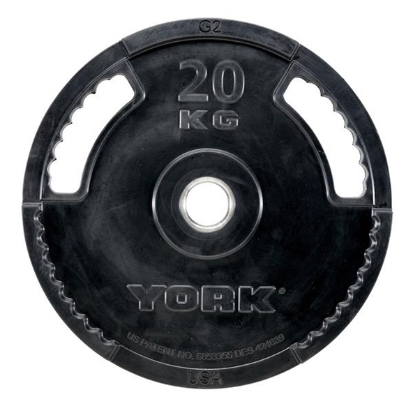 York 20kg Rubber Thin Line Olympic Plate