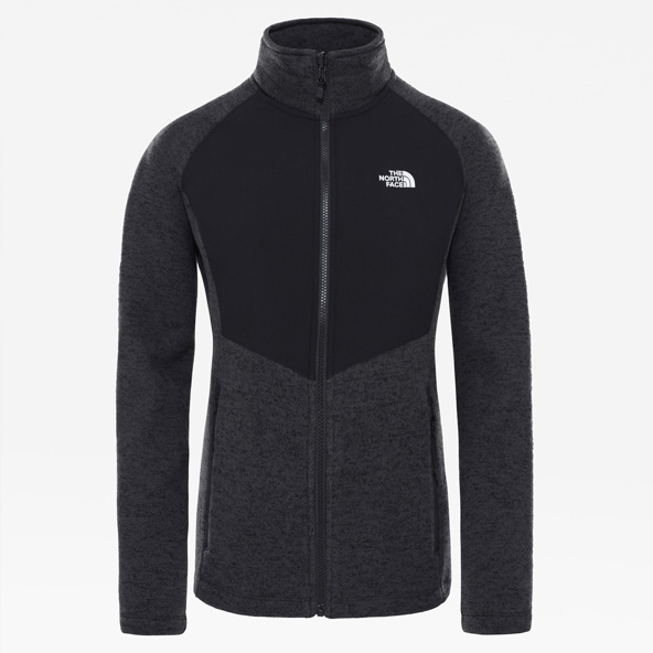 The North Face Women's Arashi Overlay Fleece Black/Red