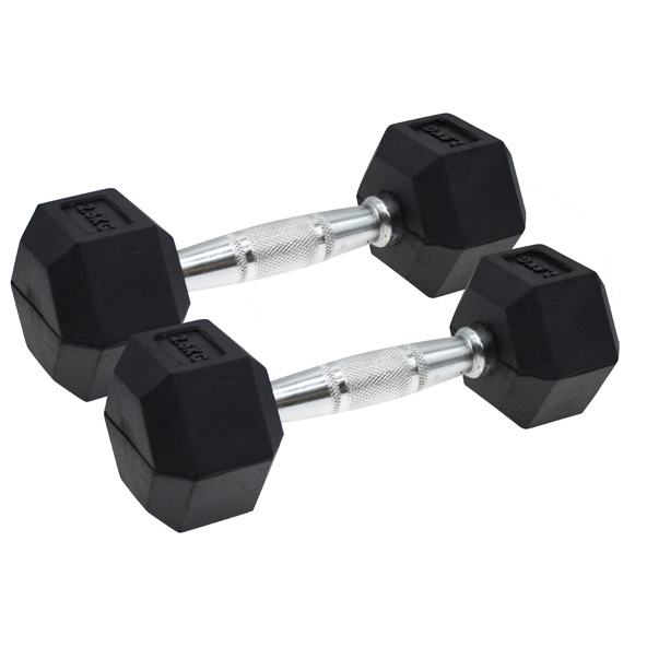Vector X Hex Dumbbells Rubber 2 x 2.5kg