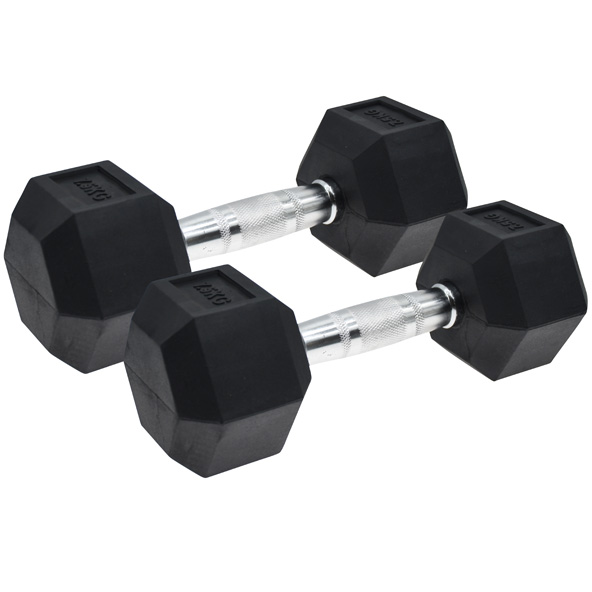Vector X Hex Dumbbells  Rubber 2 x 7.5kg