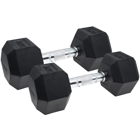 Vector X Hex Dumbbells  Rubber 2 x 10kg