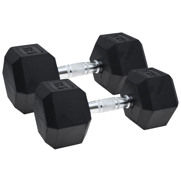 Vector X Hex Dumbbells Rubber 2 x 12.5kg