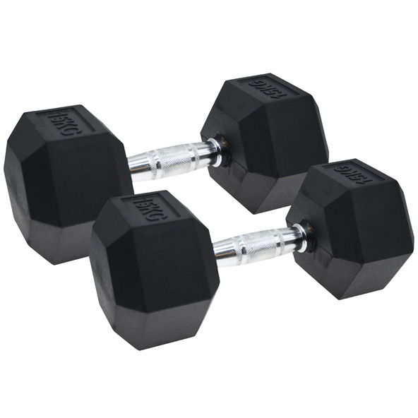 Vector X Hex Dumbbells  Rubber 2 x 15kg