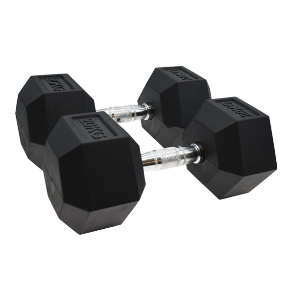 Vector X Hex Dumbbells Rubber 2 x 20kg