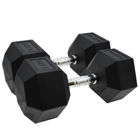 Vector X Hex Dumbbells Rubber 2 x 22.5kg