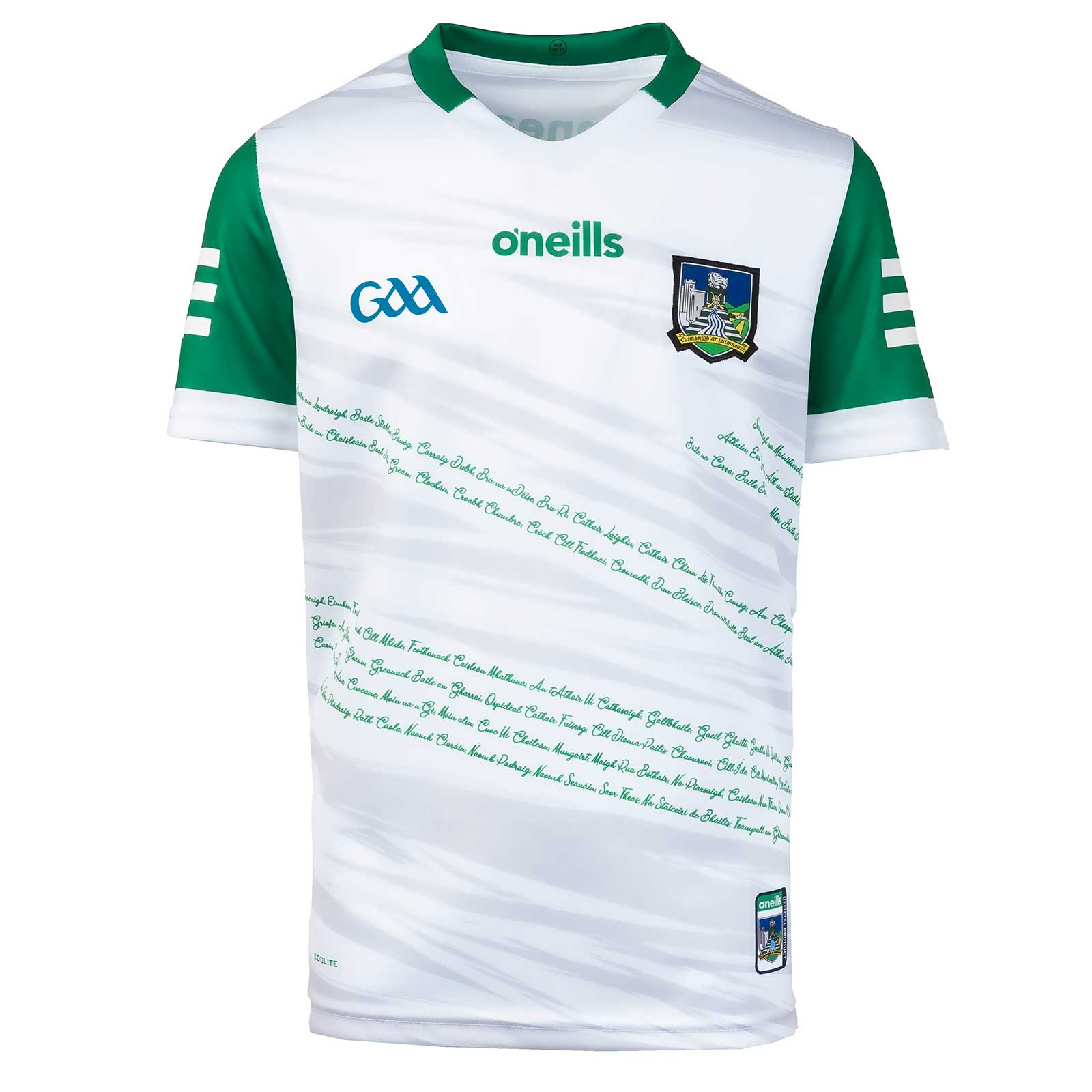O'NEILLS LIMERICK 2021 HOME GOALKEEPER KIDS' JERSEY WHITE