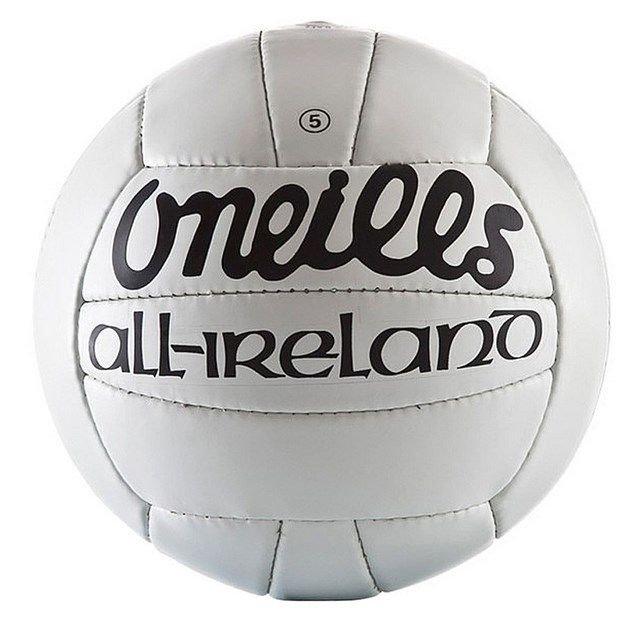 O Neills All Ireland Gaa Football White Size 5 Gaa