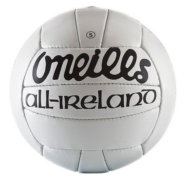 O'Neills All Ireland GAA Football, White, Size 4