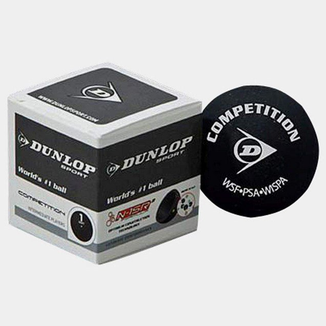 Dunlop 1 Dot Competition Squash Ball Blk