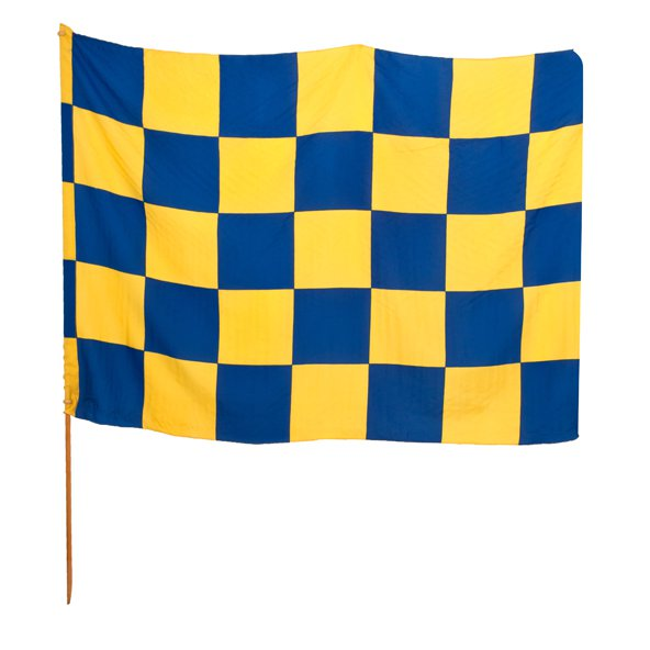 CHEQUERED FLAG BLUE/GOLD (BLU)