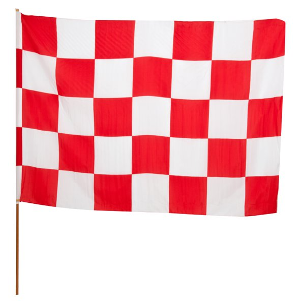 INDY CHEQ FLAG RED/WHITE (MUL)