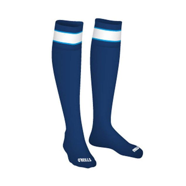 O'Neills GAA Bar Socks Navy/Blue/White