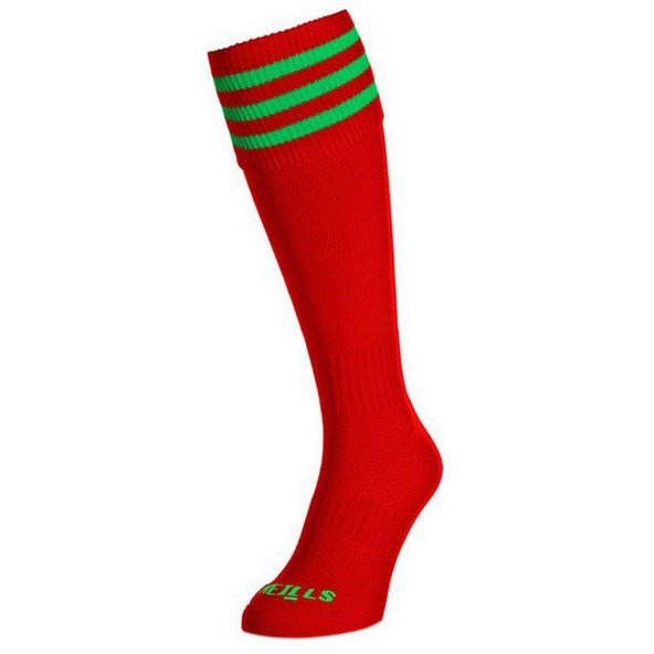 2ONS KIDS RED/GREEN BARS SOCK