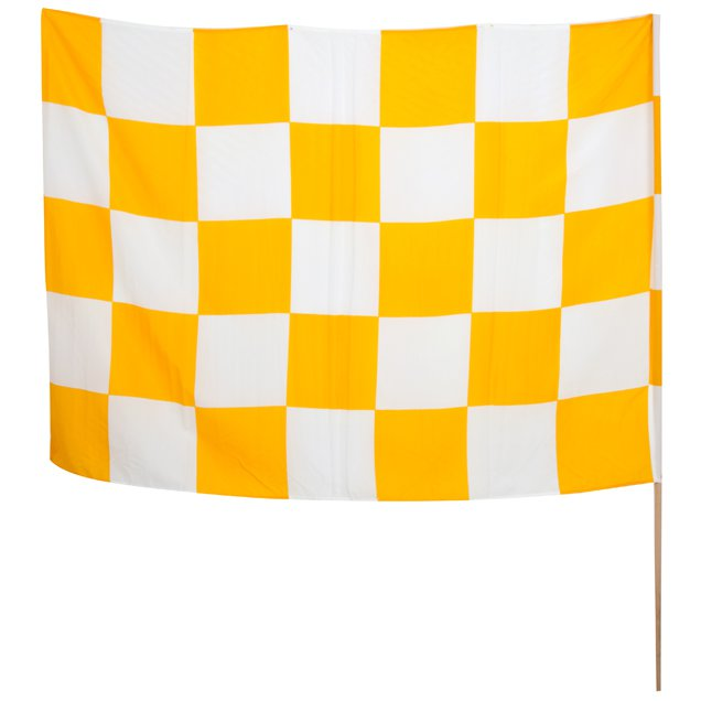 INDY CHEQ FLAG YELLOW/WHITE (MUL)