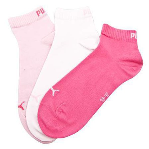 Puma Womens Training Sock 3 Pack Rose/White/Peony