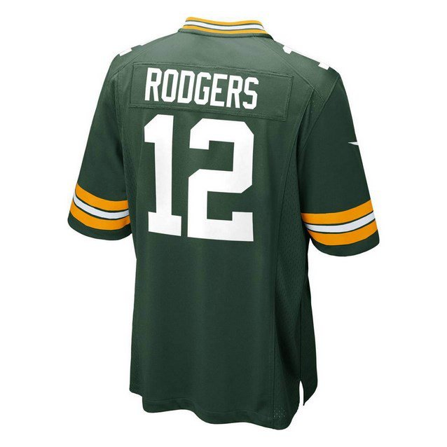 Nike Green Bay Packers Kids' Rodgers No.12 Jersey, Green