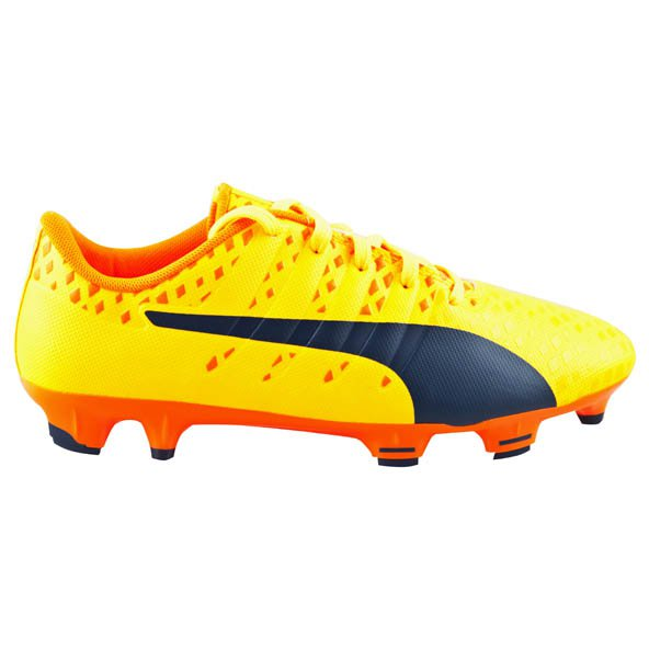 Puma evoPOWER Vigor 3 Kids' FG Football Boot, Yellow