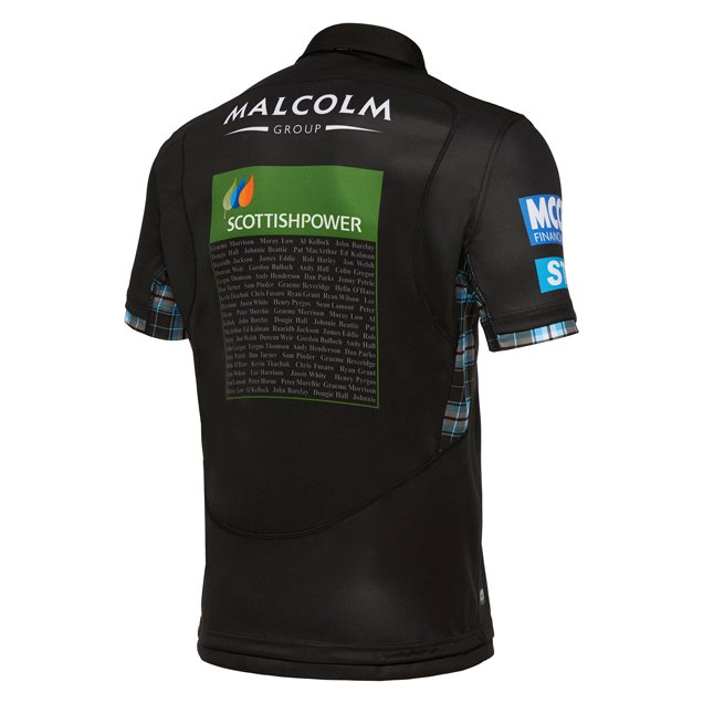 Macron Glasgow Warriors Hm 17 Jersey Blk